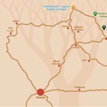 Antonie Hotel - mapa